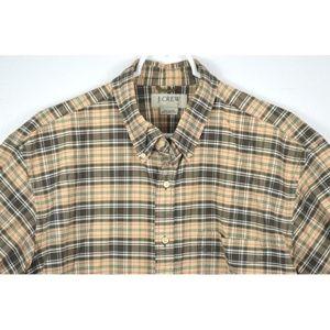 J CREW Large Plaid Cotton Short Sleeve Shirt